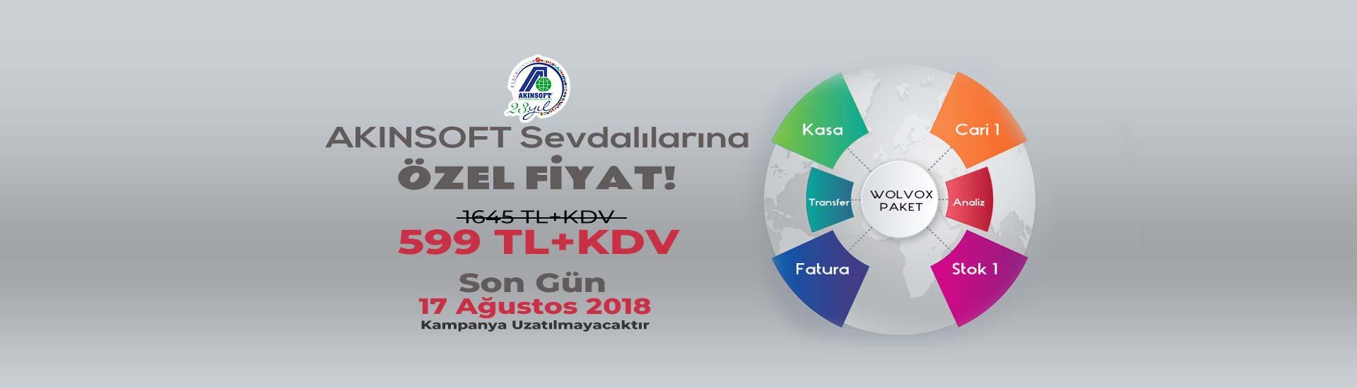 AKINSOFT Sevdalılarına Özel WOLVOX Paket1 599 TL + KDV
